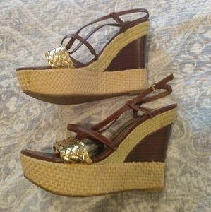 Audrey Brooke Wedge Sandal 8M